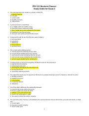 FIN 101 - Study Guide For Exam 2 review.docx