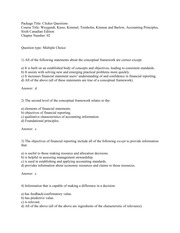 ACCT2004, Chapter 2 Practice Questions &Answers