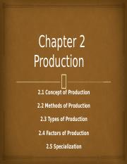 Chapter 2  Production
