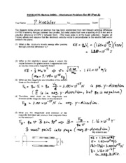 Phys 0175 - Worksheet _8 Solution