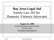 Family Law 101 for DV Advocates