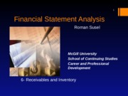 06. Receivables & Inventory