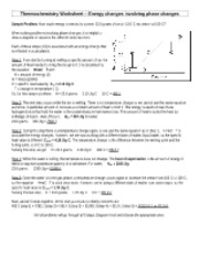 Heat_Involving_Phase_Changes - Thermochemistry Worksheet Energy ...