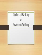 1. Differences and Similarities of Technical Writing and Academic Writing (1)