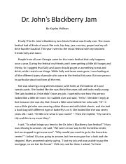 Dr.+John's+Blackberry+Jam+Writing+Asessment