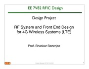 RF System and Front End Design