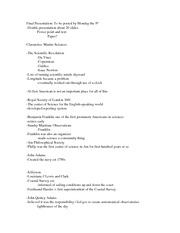 Class Notes History of Marine Sciences