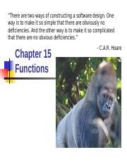 Chapter 15 - Functions and Program Structure