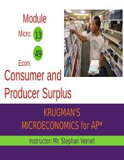 Sec 9 Mod 49 - Main - Consumer and Producer Surplus