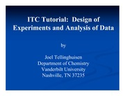 Chemistry 236_Study Guide on Design of Experiments and Analysis of Data