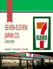 SEVEN   SEVEN ELEVEN JAPAN CO CASESTUDY SYNOPSIS Ito Yokado and        pages          Seven Eleven Co Japan