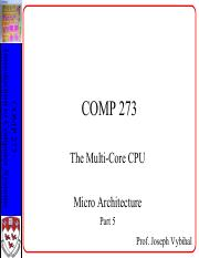 COMP 273 Lecture 14 - Multi Core