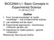 1. Basic Concepts in Experimental Science