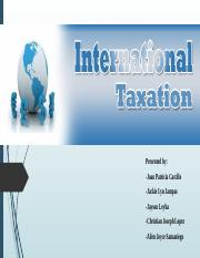 Group 5 (International Taxation and International Transfer Pricing)revised