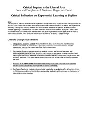 interview reflection criteria lecture material