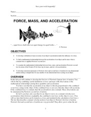 Lab Force Mass Acceleration
