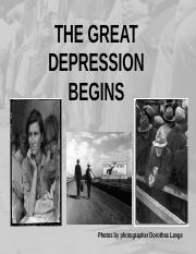 Great Depression Begins with Hoover