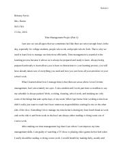 Time Management Project Part Two.docx