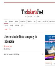 Uber to start official company in Indonesia - The Jakarta Post.pdf