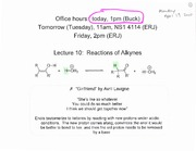 Lecture 10 on Organic Chemistry