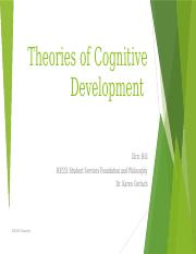 HE551 Unit 3 Theories of Cognitive Development