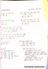 Polynomial Practice Homework