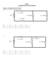 28 Combination Circuit Worksheet With Answers - Worksheet ...