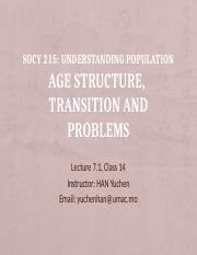 Lecture 7.1-Age Structure and Transition