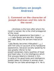 joseph andrews character analysis