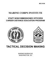 Tactical Decision Making - Course Manual