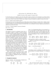 [Article] Sympletic Structures And Hamiltonians Of A Mechanical System