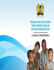 MEASLES VACCINE SECOND DOSE INTRODUCTION IN ROUTINE IMMUNIZATION_FINAL