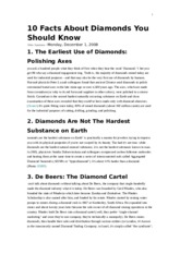 10 facts about diamonds