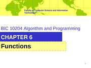 ALGO-Chapter6 Functions+students
