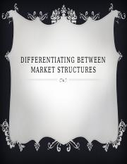 Differentiating Between Market Structures PP