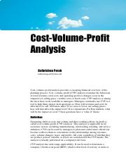 5 Cost Accounting Cost Volume Profit Analysis Theory Notes