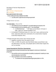 Soc 340 Class Notes 2010-11-17