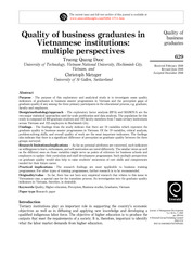 Quality of business graduates in VN