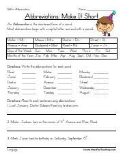 abbreviations-worksheet