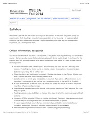 Syllabus - CSE 8A Fall 2014