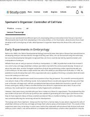 Spemann's Organizer_ Controller of Cell Fate - Video & Lesson Transcript _ Study.com.pdf