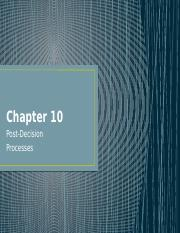 Chapter 10 and 15