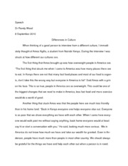 Culture Interview paper