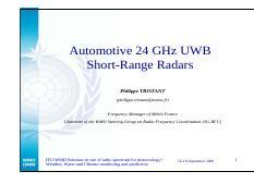 Infineon Development Kit - Product Brief 24GHz Radar