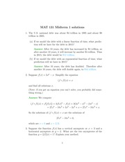 Midterm One B with Solutions