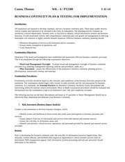 Lab 6 Business Continuity Plan