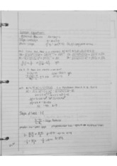Linear Equations Notes