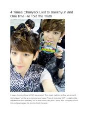 4 Times Chanyeol Lied to Baekhyun and One time He Told the Truth