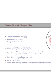 36. Electric Field of Charged Disk