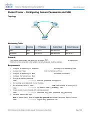 Aman Patel_11.2.4.5 Packet Tracer - Configuring Secure Passwords and SSH.pdf